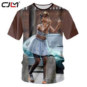 Cjlm Nueva Llegada Hombres 3d Camiseta de Impresión Rihanna Camiseta de Moda de Verano Unisex Hiphop de Manga Corta O Cuello Camisetas Dropshipping C19041501