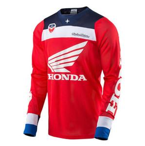 equipo Honda todoterreno traje de carreras de motocicletas HONDA TLD HD cuesta abajo traje a la medida de secado rápido de manga corta camiseta
