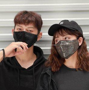 Máscaras Nevoeiro Prevenção de protecção Lantejoula Respiradores Máscara Facial Homens Mulheres Unisex Boca Mascherine Reutilização Amplamente Máscara 6 Cotton Sports