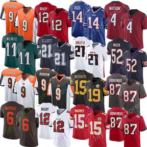 NCAA Jersey Joe Burrow Kittle Diggs Allen Mayfield Beckham Jr Watson Smith-Schuster Brady Barkley Ertz Jones Elliott Mahomes Jackson Mack