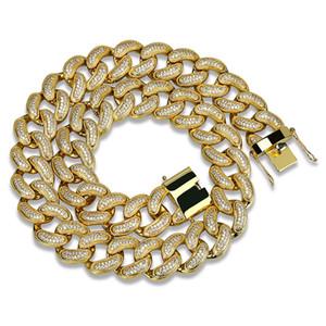 18K Real Gold Plated Full CZ Zirconia Mens collar de cadena 10 14 18 28 mm Diamond Silver Hip Hop Punk Rock joyería regalos para niños venta al por mayor