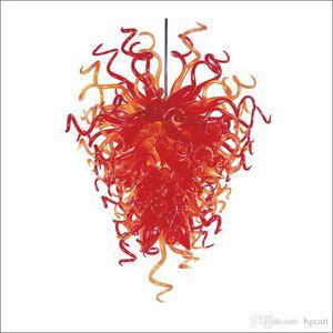 Americana Chihuly de estilo artesanal soplado Lámparas de techo de boda al por mayor Diseño Soplado lámpara de cristal de Nueva decoración de la casa