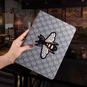 For Ipad 2020 Classic Case for Ipad mini 2 3 4 5 Fashion 3D Embroidery bee Case PU Leather Tablet Phone Cover for Ipad Air 10.5 Pro 11 Inch