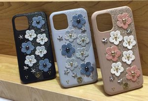 cas de téléphone pour l'iPhone 11Pro max pour iPhone XS MAX XR X cuir fleur mode téléphone mobile conception creux Cell Phone ins Case