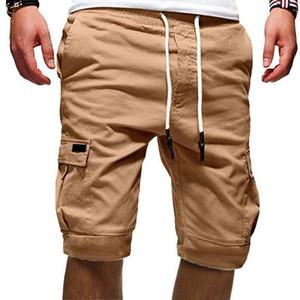 NOUVEAU Hommes Shorts Fitness Casual Casual Cordon Court Pantalon Court Haute Qualité Mens Sports Multi-poche Sports Asiatique Taille
