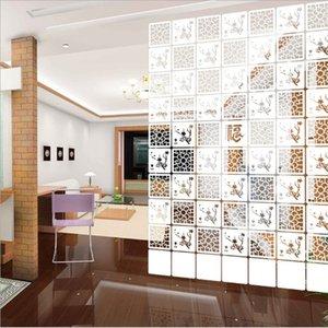 6pcs / lot 29 * 29cm de habitaciones Divisor Biombo moderno Biombo plegable Breve colgantes