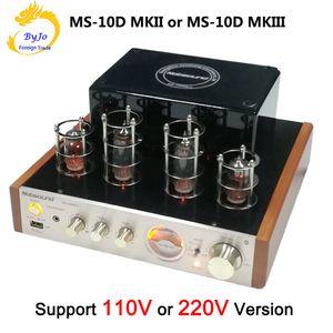 Amplificatore valvolare Nobsound MS-10D MKII e MS-10D MKIII Amplificatore audio stereo Hi-Fi 25W * 2 Tubo vuoto AMP Supporto Bluetooth USB 110 V o 220 V