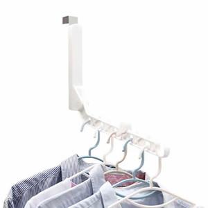 5-Луночная Прочная Вешалка Для Одежды С Крючком Для Сушки Домашнего Держателя Пальто Практичное Хранение Складная Дверь Подвесной Органайзер Шкаф