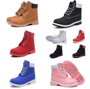 2019 Timberland boots Mens Womens NeuTimberStiefel der Frauen Männer Designer Military Boot Blue Kastanie Triple Black Camo Wanderstiefel Martin Stiefel shoes