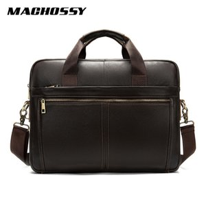 Top Quality Men's Genuine Leather Bag Men Shoulder Bags Male Soft Leather Laptop Briefcase Messenger Bag Casual Men Handbag