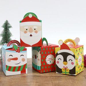 Dibujos animados del papel de regalo cajas con papel manejan la caja Nochebuena Apple 4 Estilos Impreso de embalaje Contenedores Nuevos Diseños 0 55ss E1
