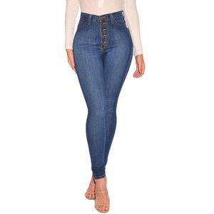 Kadınlar # N için Jeans Kadın Yüksek Waisted Skinny Denim Yumuşak Rahat Stretch İnce Pantolon Buzağı Boy Jeans Mujer Sevgilisi