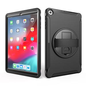 Samsung Tab 10.1 2019 T510 T515 T720 T590 T860 T865 T867 T290 T295 için Hibrid Darbeye Meli Kayış El Tutucu vaka