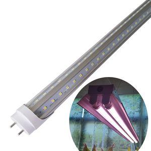 2FT 3 피트 4FT LED UVA와 라이트 T8 V 모양의 성장 튜브 전체 스펙트럼 더블 행 G13 HO 튜브 높은 출력, 일 핑크 화이트 전체 스펙트럼을 성장