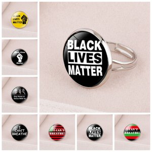 NERO VITE MATERIA Rings Black Protesta Anello non riesco a respirare regolabile favore RRA3126 anello aperto americano Parade strumenti di terze parti