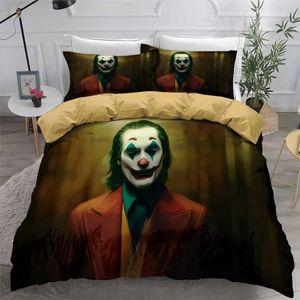 HELENGILI 3D Пододеяльник Clown Joker печати Пододеяльник Комплект Bedcloth с наволочки кровать Домашний текстиль # JO13
