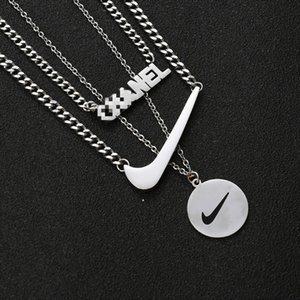 Three Pieces Set Necklaces Hip Hop Men's and Women's Pendants Outdoor Nightclub Street Dance Party Hipster Must Accessories Free Shipping