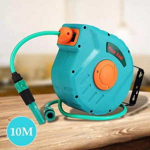 10M Retractable Reel Schlauchaufbewahrung Spray Auto Rewind Garten Wasserschlauchtrommel Werkzeug Universal-Auto-Waschmaschine flexible Garten-Air