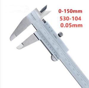 New packaging Mitutoyo 530-104 vernier caliper metric inch range 0-150mm 0-6in upgraded version (0.05mm)* 1