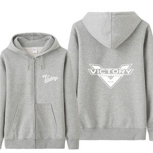 Automne Victory Motorcycles Sweat-shirt Sweats Homme Pull mince Veste polaire unisexe homme Victory Motorcycles Sweat HS-050
