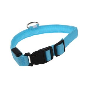 Dog Safety Collar Flashing LED Adjustable 2.5cm Width M