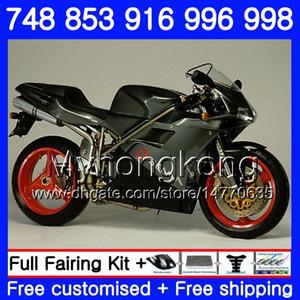Kit For DUCATI 748 853 916 996 998 S R 94 95 96 97 98 327HM.1 748S 853S 916R 996R 998S 748R Grey black hot 1994 1995 1996 1997 1998 Fairing