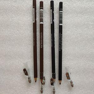 Marca M Eyeliner lápis de sobrancelha Eyeliner lápis de sobrancelha Enhancers Apontador de lápis eyebrowpencil café preto Cosméticos Ferramenta 2 CORES QUENTES
