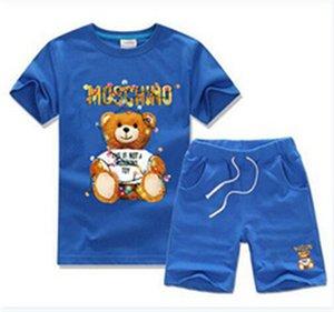 2020 New Designer Luxury Children Sets Baby Boys And Girls Baby Infant Boy Designer Clothes kids Cotton Summer Short Sets T56s2187