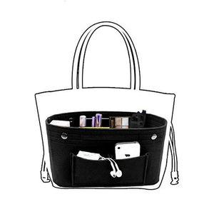 Make-up-Aufbewahrungs-Organizer, Filztuch einfügen Kosmetiktasche Multi-Taschen Passt in Handtasche Kosmetische Kulturbeutel für Reiseveranstalter