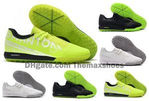 Горячие Turf 2019 Мужчины Увеличить Phantom VNM Pro TF IC Venom помещении светоносный под радаром футбол футбол обувь сапоги Бутсы Размер США 6.5-11