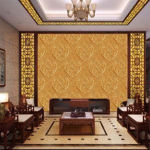 3d Golden European wallpaper papier peint luxe TV fond mur grande Mural couloir de l'hôtel salon papier peint