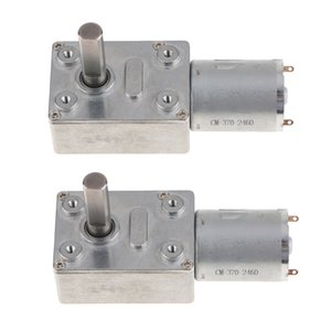 2x JGY370 Permanent DC 24V Turbo Worm Gear Motor Magnet Reduction Motor