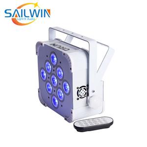 STOCK 9X15W RGBAW 5in1 batteria ricaricabile UE Alimentato senza fili di telecomando di IR LED della fase luce par del LED UPLIGHT Per Studio Club