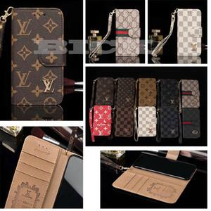 Carteira De Couro Para iPhone 11 11pro Mas XR Xs 7 8 Mais Capa Marca Clássica casos de telefone de luxo