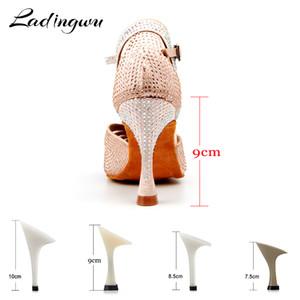 Ladingwu zapatos de baile latino zapatos de las mujeres zapatos de baile de salón profesionales para las mujeres zapatos de baile latino mujer Rendimiento