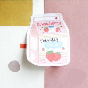 30PCS Stationery Planner adesivo Kawaii bonito Anotações EatDrink Series Escritório Decoração criativa Memo Alimentação Escolar Pad Escritório