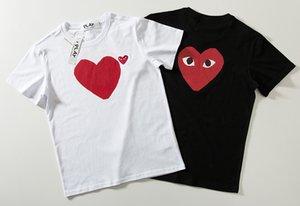 T-shirt coppia 2019 Tide giapponese marca alta qualità stampa cuore rosso manica corta in cotone girocollo tempo libero mezza manica nuovo stile