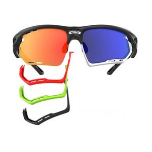 3 lentille Vélo Vélo Sports Cyclisme Lunettes de soleil IMPACTX changement de couleur de course lunettes de soleil marathon en plein air hommes sable-preuve équitation lunettes