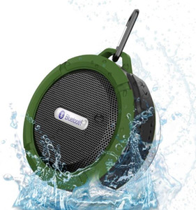 Speaker Waterproof C6 Speaker Bluetooth sem fio potável Audio Player gancho ventosa Stereo Music Player Com pacote de varejo