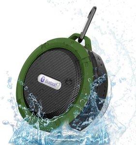 Altavoz impermeable altavoz Bluetooth Wireless Speaker C6 potable reproductor de audio Gancho ventosa estéreo reproductor de música con paquete al por menor