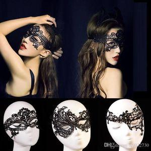 Art und Weise reizvolle Spitze-Partei-Schablonen-Frauen Kostüm Masquerade Tanzen Valentine halbe Gesichtsmaske Königin 24 Design A027 Maske
