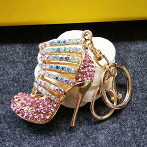 4pcs Lot Zinc Alloy 3d Heels Shoes Keychain Diy Bag Decoration Charms Keyring Car Keys Holder Jewelry Pendant Key Chain Ring