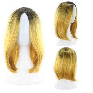 Gradient Hersteller kurzen geraden Bob bobo Kopf gefärbt Perücke für Frauen Perücke für freies Verschiffen
