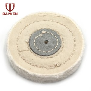 4mm Hole White Cloth Wheel Cotton Lint Cloth Buffing Surface Finish Polishing Rotation Tool 50mm ~ 200mm Diameter 15mm Thickness