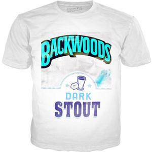 تصميم 19s جديد Tees Hot Tees قصيرة الأكمام Mens Backwood 3d Tshills صيفية الموضة
