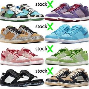 2020 Top Fashion SB Dunk Low Hot Sell Chunky Dunky Travis Scott Men Women Running Shoes Safari Panda Pigeon Sport Designer Sneakers 36-45