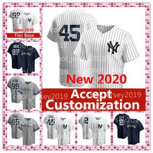 Aceptar la personalización de Nueva York 2020 45 Gerrit Cole 99 Aaron Juez jerseys Derek Jeter 2 Sánchez Torres Stanton personalizada jerseys del béisbol