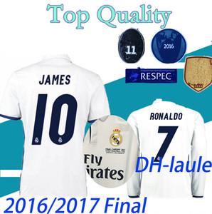 short long sleeve 2016 2017 U C L League Finals Soccer Jersey 16 17 Real Madrid home Soccer Jerseys for 3 Jun Ronaldo Football uniform