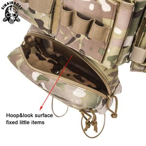 Tactical MK3 Modular Chest Rig Micro Kampf chissis Chest Rig Airsoft Jagd Kampfweste mit 5,56 MOLLE Magazintasche Multicam