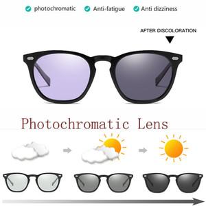 Мужские женские поляризованные фотохроматические солнцезащитные очки Синий Розовый Фиолетовый Желтый Переход Хамелеон Объектив на открытом воздухе Вождение Бег